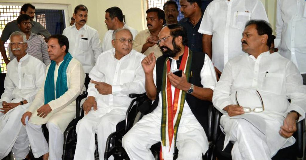 Congress leader N. Uttam Kumar Reddy during a party programme in Hyderabad on May 27, 2018.