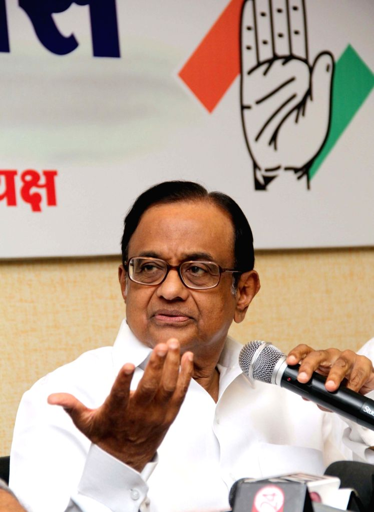 Congress leader P Chidambaram during a press conference in Mumbai on Sept. 09, 2017.