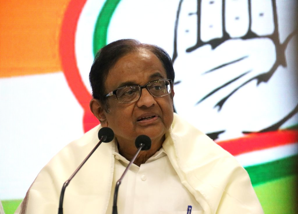 Congress leader P Chidambaram speaking to media in New Delhi on Dec. 5, 2019. (Photo; IANS)