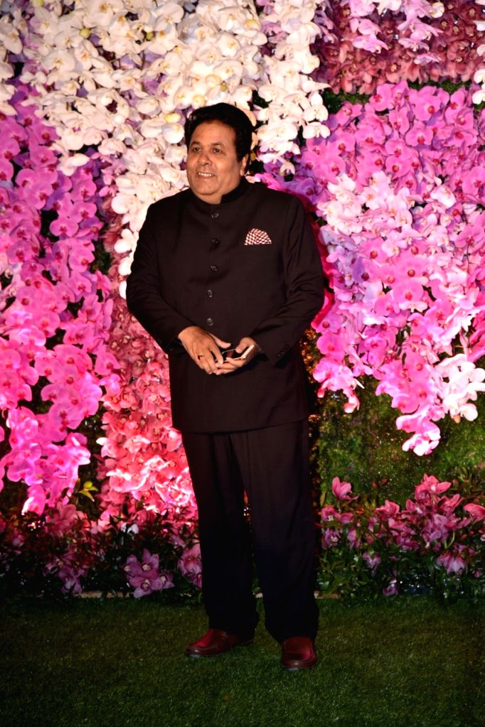 Congress leader Rajeev Shukla at the wedding reception of Akash Ambani and Shloka Mehta in Mumbai on March 10, 2019. - Akash Ambani and Shloka Mehta
