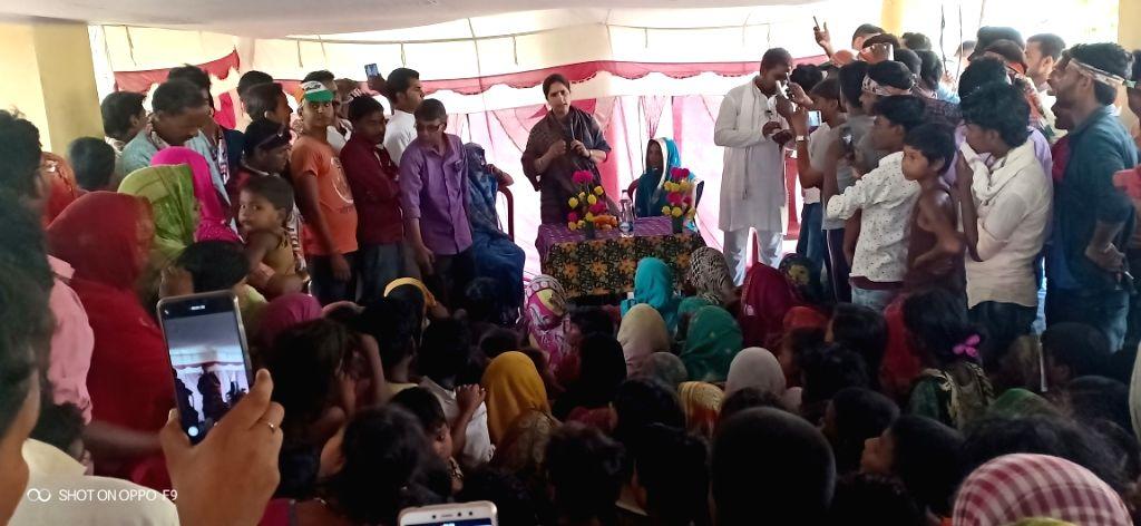 Congress leader Ranjita Ranjan during election campaign in Supaul district of Bihar on April 13, 2019.