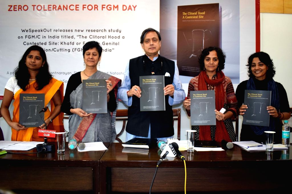 "Congress leader Shashi Tharoor releases the 1st qualitative study with fresh evidence of FGM/C (Female Genital Mutilation/Cutting) titled ""The Clitoral Hood a Contested Site: Khafd or ... - Shashi Tharoor"