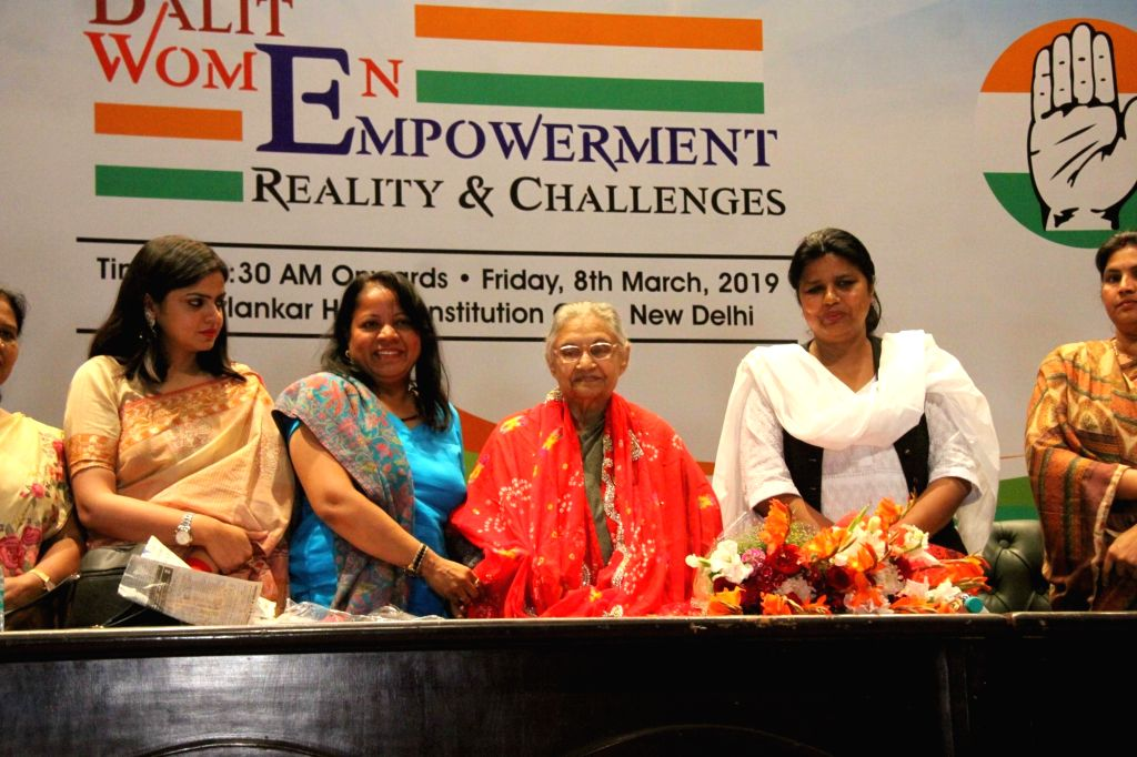 Congress leader Sheila Dikshit during a party programme organised on International Women's Day in New Delhi, on March 8, 2019. - Sheila Dikshit