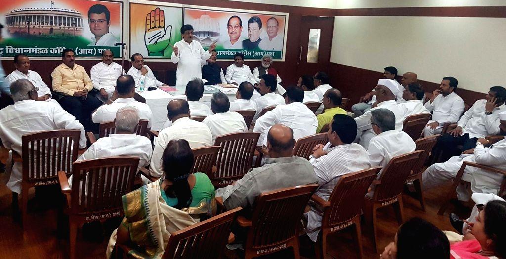 Congress leaders Ashok Chavan,  Prithviraj Chavan, Radhakrishna Vikhe Patil and others during a party meeting in Mumbai, on July 29, 2018. - Radhakrishna Vikhe Patil
