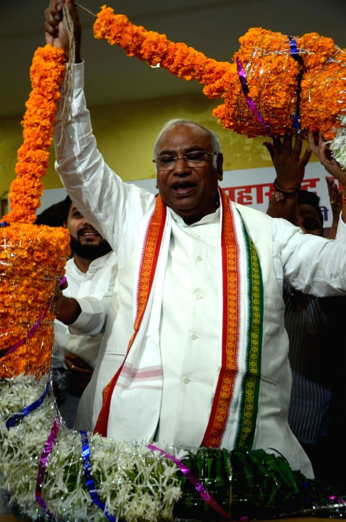 Congress leaders Mallikarjun Kharge during a party meeting in Mumbai on July 8, 2018.