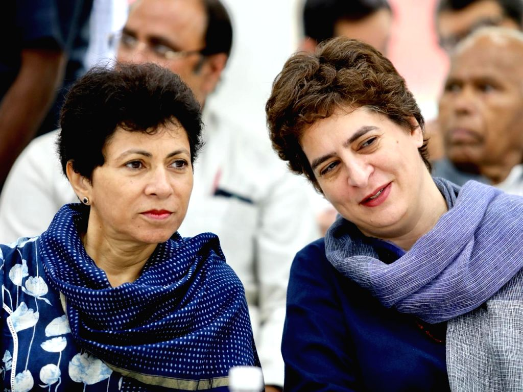 Congress leaders Priyanka Gandhi during Congress Working Committee meeting in New Delhi on Aug 10, 2019. - Priyanka Gandhi