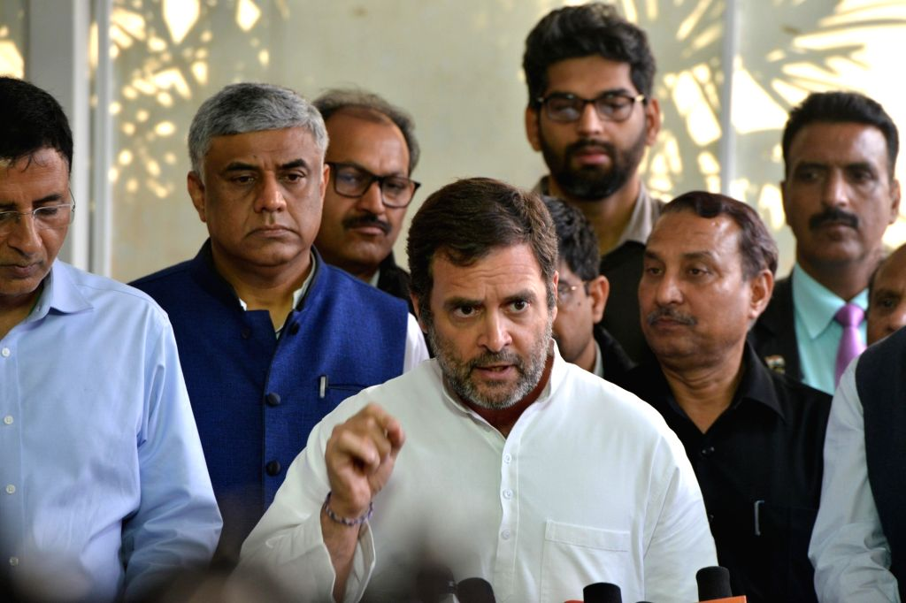 Congress leaders Rahul Gandhi, A.K. Antony, and Shashi Tharoor -- all MPs from Kerala -- have allocated funds from their respective MPLADS money to fight coronavirus in their constituencies. (File Photo: IANS) - Shashi Tharoor and Rahul Gandhi