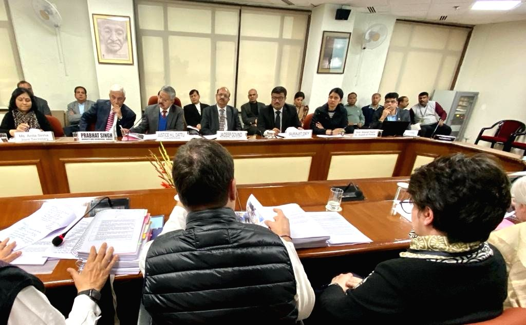 Congress leaders Rahul Gandhi and Priyanka Gandhi Vadra during a meeting with the members of the National Human Rights Commission (NHRC), in New Delhi on Jan 27, 2020. The Congress today ... - Rahul Gandhi and Priyanka Gandhi Vadra