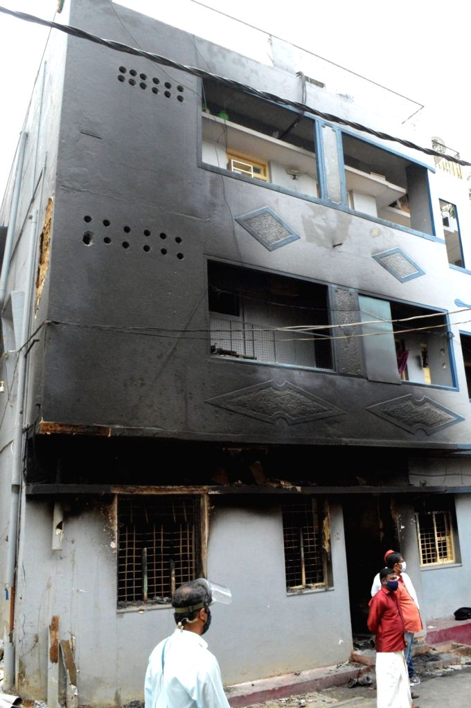 Congress legislator Akanda Srinivas Murthy's property that was attacked and vandalised by an irate mob during violence that erupted late on Tuesday night over an inflammatory social media ...