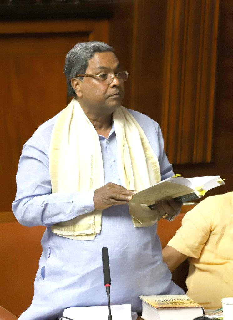 Congress legislator Siddaramaiah in the Karnataka Assembly where Chief Minister HD Kumaraswamy moved motion of confidence in Bengaluru on July 18, 2019. - H