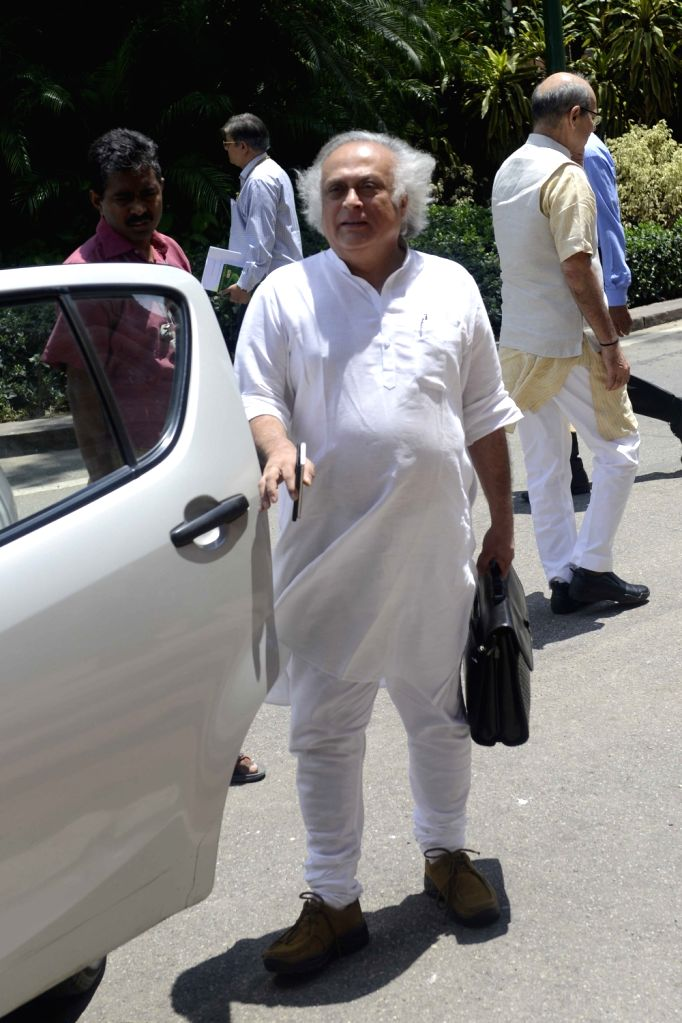 Congress MP Jairam Ramesh at Parliament in New Delhi, on Aug 4, 2016.