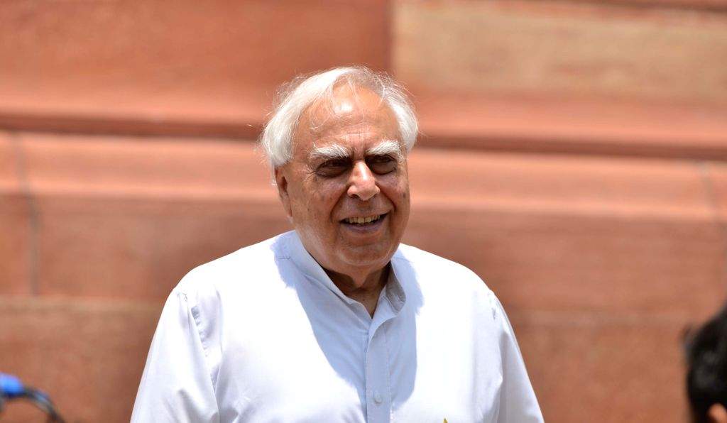 Congress MP Kapil Sibal at Parliament, in New Delhi on Aug 9, 2018.