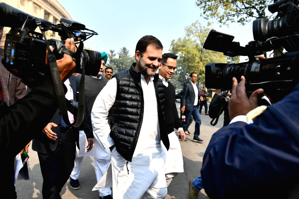 Congress MP Rahul Gandhi at Parliament during the Budget Session, in New Delhi on Feb 10, 2020. - Rahul Gandhi