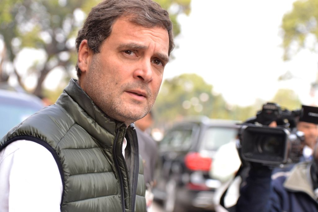 Congress MP Rahul Gandhi at Parliament, in New Delhi on Feb 5, 2019. - Rahul Gandhi