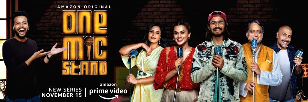 "Congress MP Shashi Tharoor is giving comedy a shot for the first time with ""One Mic Stand"". Along with Tharoor, stars like Bhuvan Bam, Taapsee Pannu, Richa Chadha, Vishal Dadlani, Zakir ... - Shashi Tharoor, Zakir Khan and Rohan Joshi"