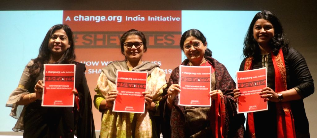 Congress MP Sushmita Dev and other dignitaries at a panel discussion on 'Women ership - Challenges and Opportunities' at Kamla Nehru Girls College in New Delhi, on Jan 30, 2019. - Sushmita Dev
