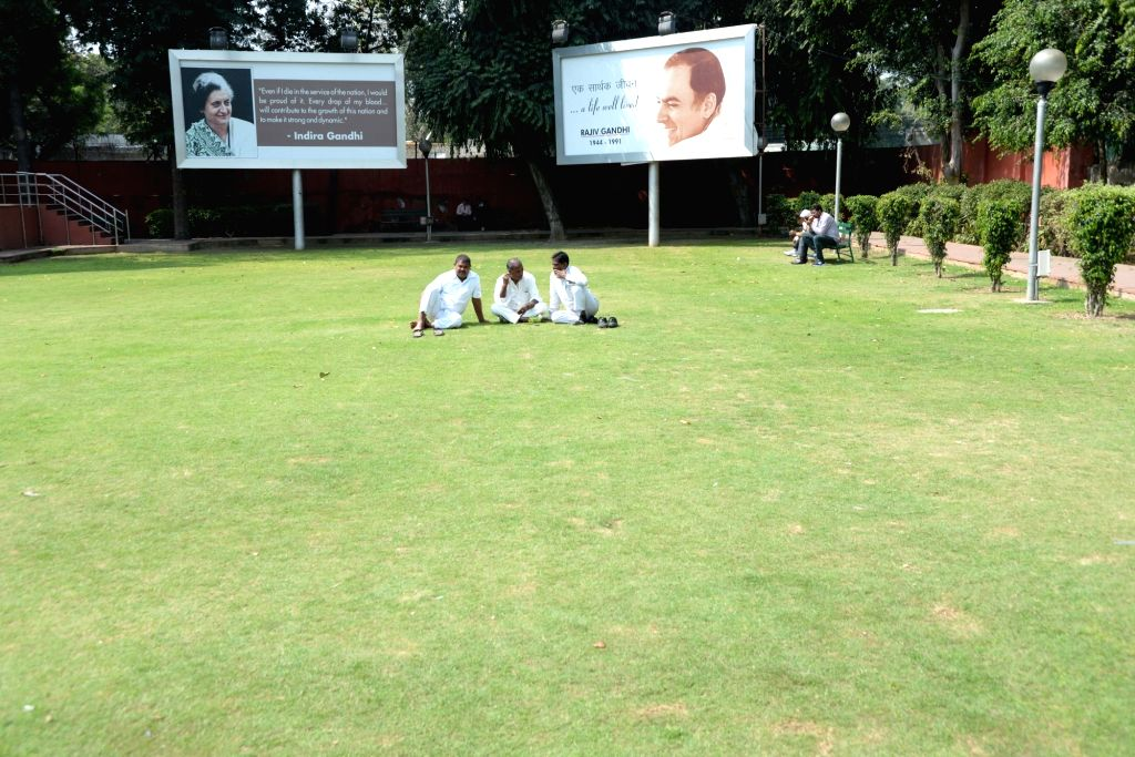 Congress office in Delhi wears a deserted look after party's performance in the assembly elections on March 11, 2017.