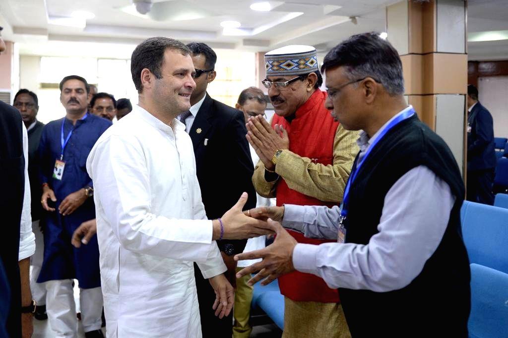 Congress President Rahul Gandhi arrives at Ranchi Airport on Feb 2, 2019. - Rahul Gandhi