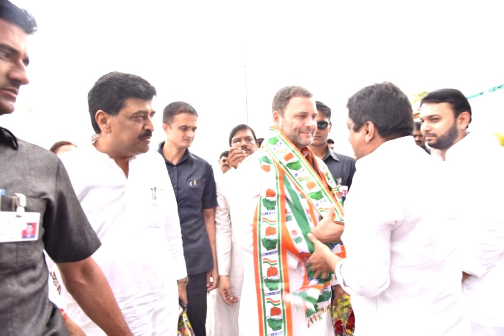 Congress President Rahul Gandhi arrives for a court hearing in a defamation case and for other party engagements, in Mumbai on June 12, 2018. - Rahul Gandhi