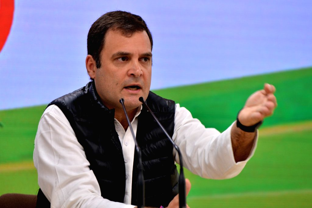 Congress President Rahul Gandhi at a press conference in New Delhi on March7, 2019. (Photo : IANS) - Rahul Gandhi