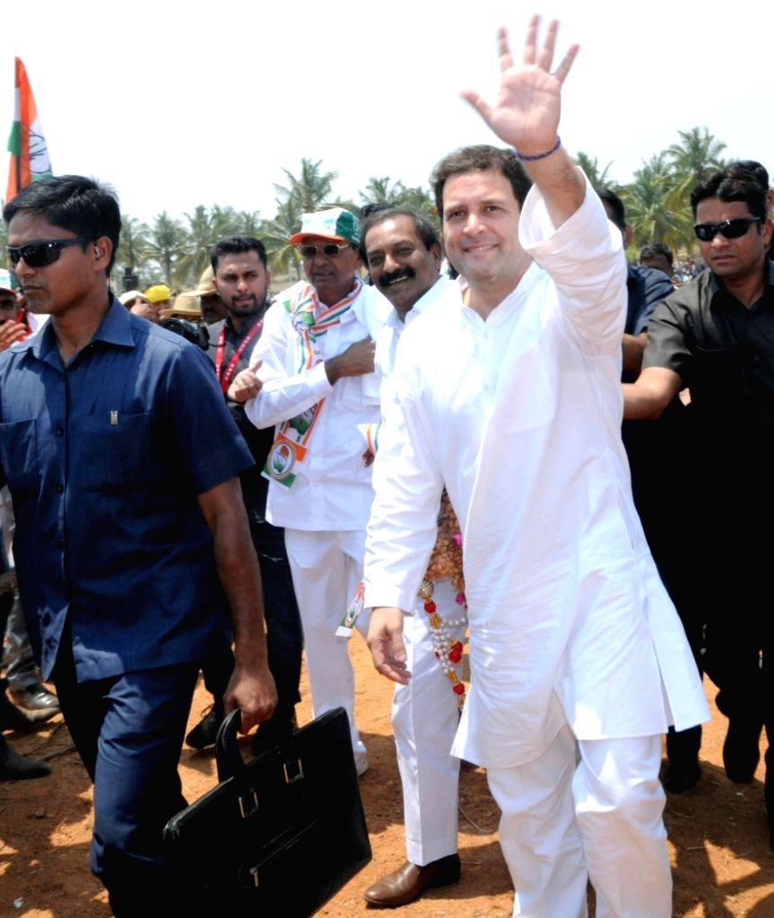 Congress President Rahul Gandhi during a party rally in K.R. Pet of Karnataka's Mandya district on March 25, 2018. - Rahul Gandhi
