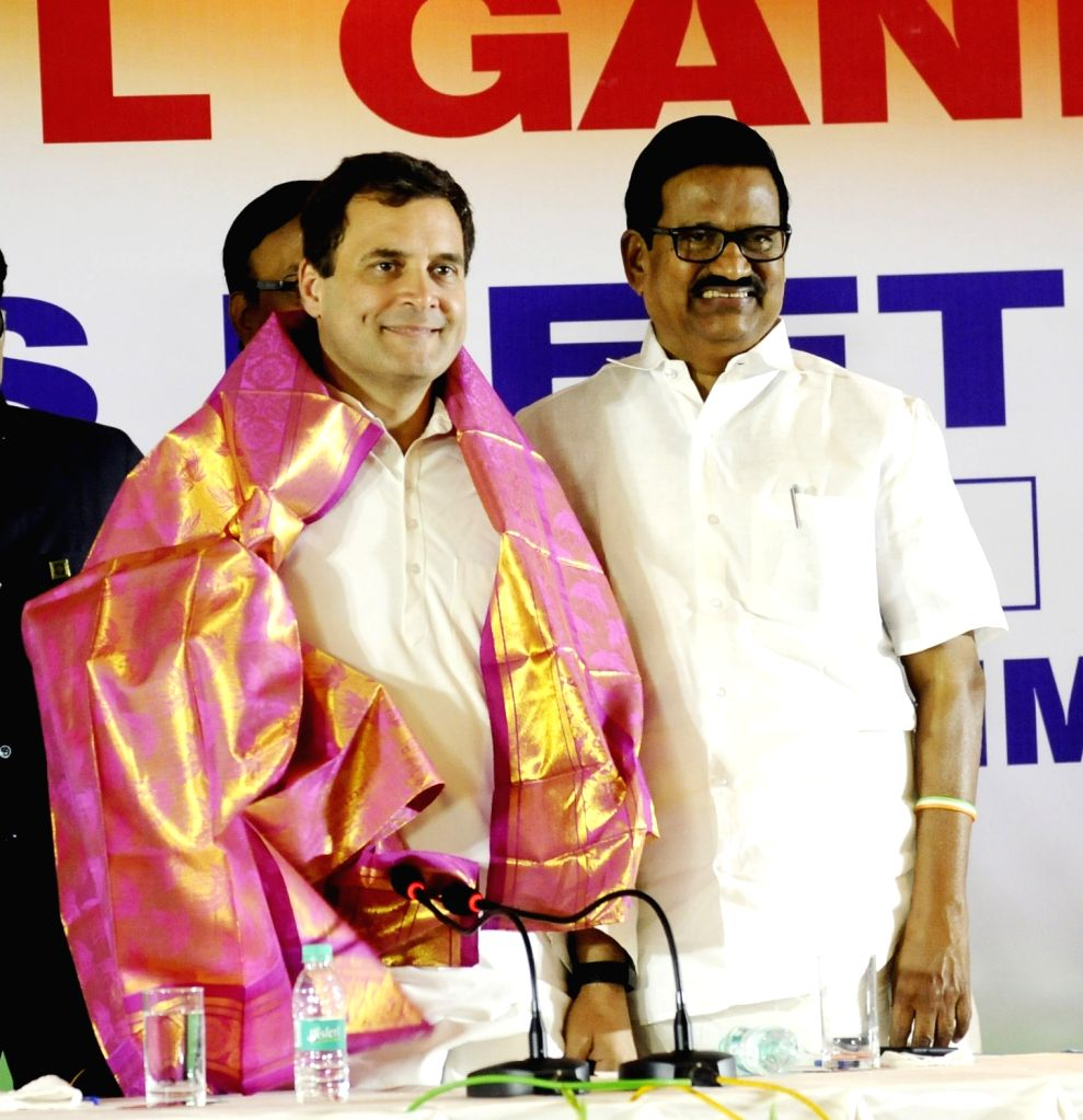 Congress President Rahul Gandhi during a press conference in Chennai, on March 13, 2019. - Rahul Gandhi