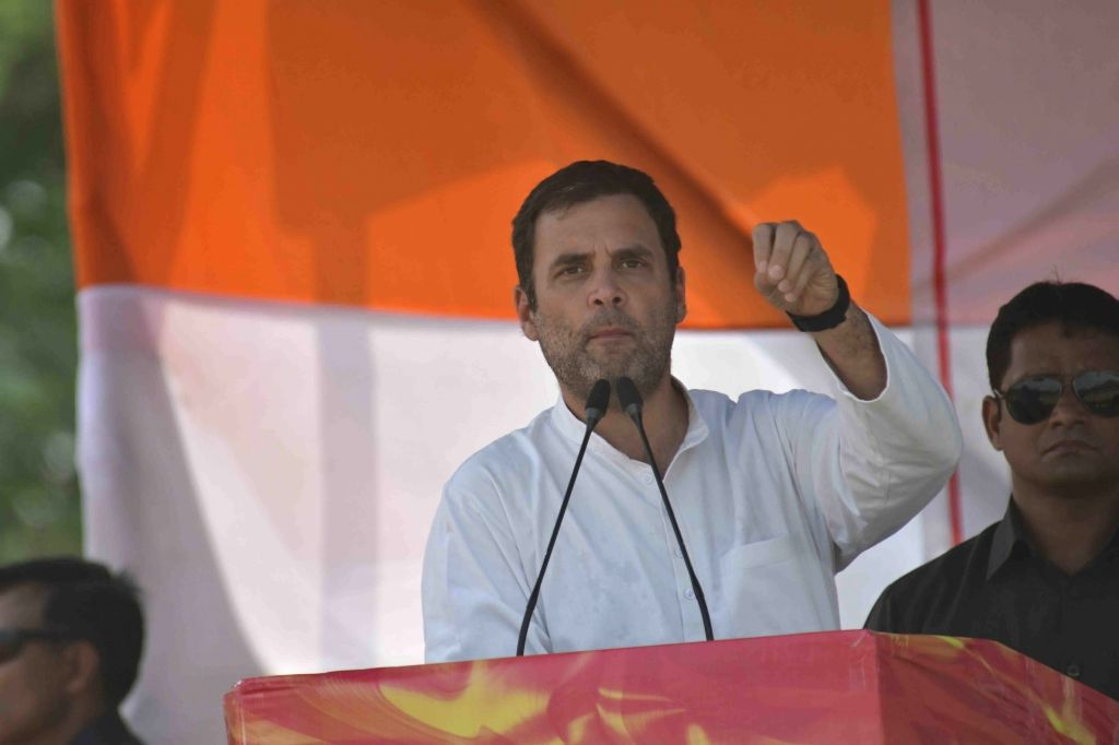 Congress President Rahul Gandhi during a public rally in Bihar's Samastipur, on April 26, 2019. - Rahul Gandhi