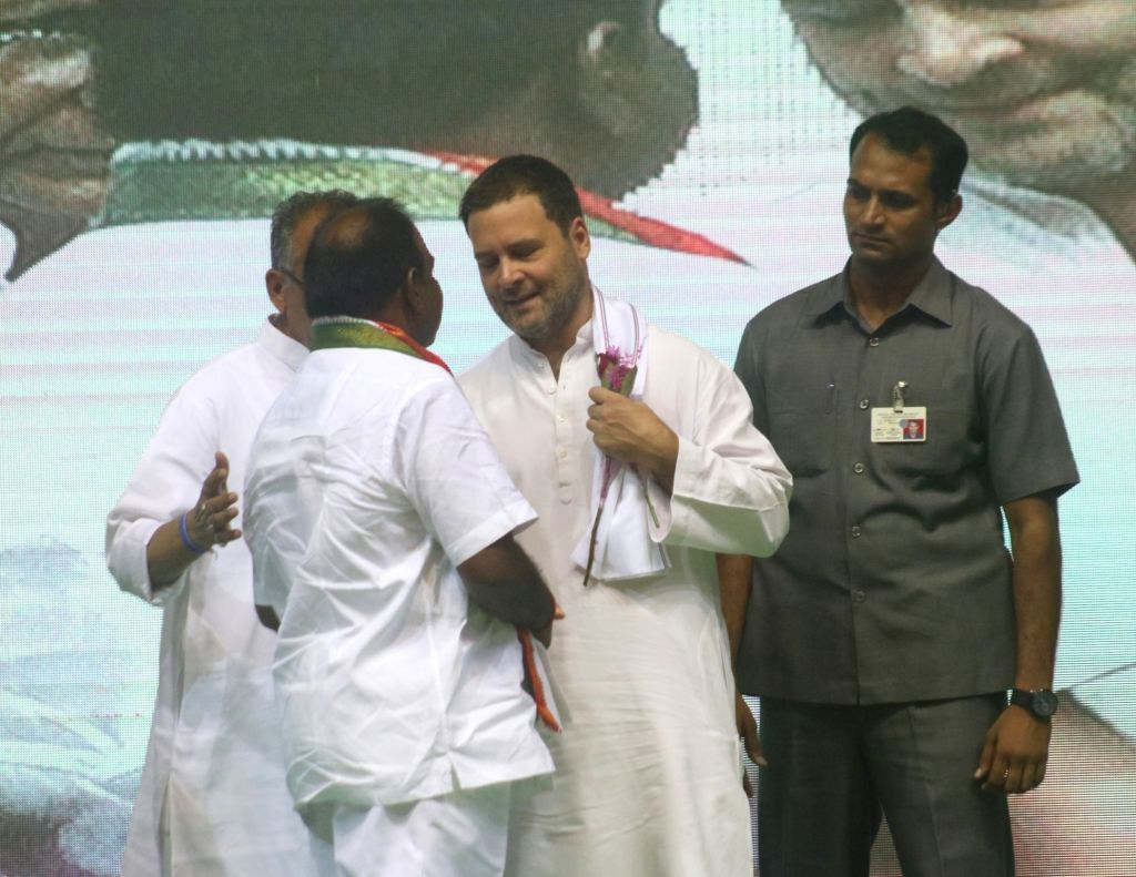 Congress President Rahul Gandhi during an OBC (Other Backward Class) convention, in New Delhi on June 11, 2018. - Rahul Gandhi