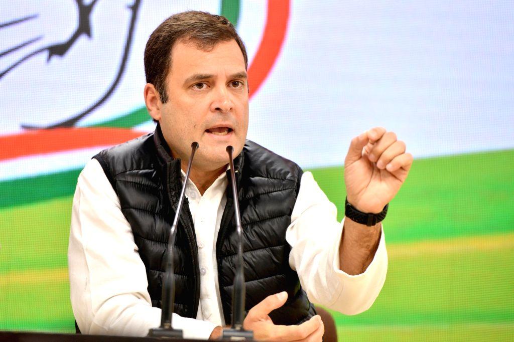 Congress President Rahul Gandhi.(File Photo: IANS)I - Rahul Gandhi