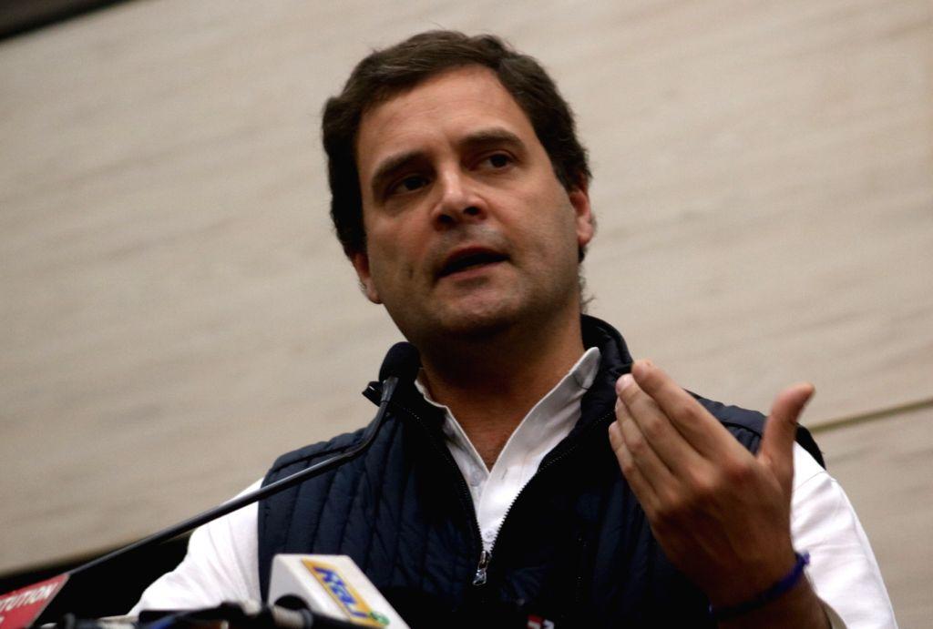 Congress president Rahul Gandhi.(Photo: IANS) - Rahul Gandhi