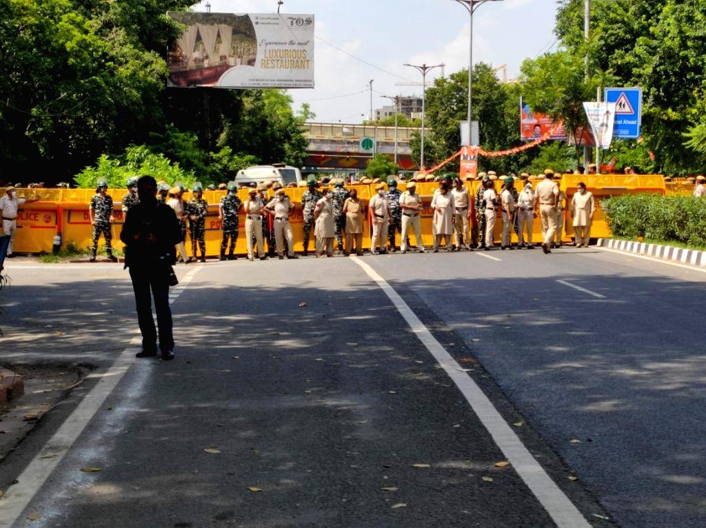 Congress protest at DDU marg