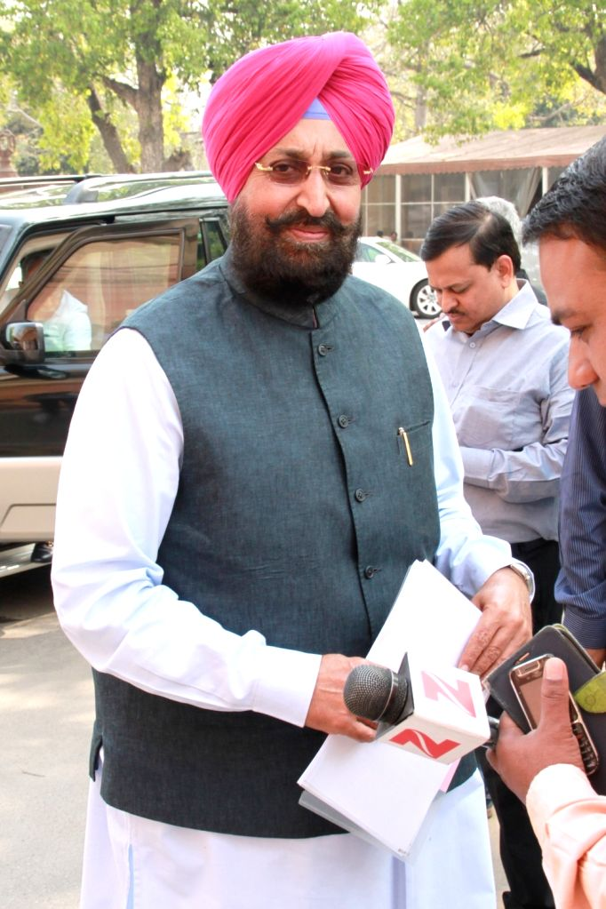 Congress Rajya Sabha MP Partap Singh Bajwa arrives to attend the second phase of Budget Session of the Parliament, in New Delhi on March 9, 2017. - Partap Singh Bajwa