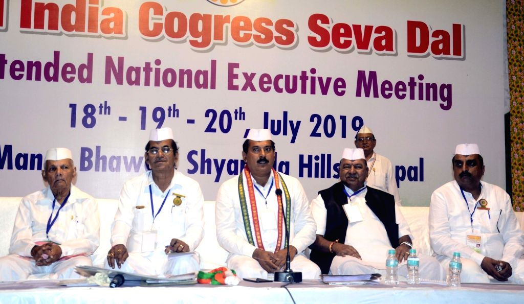 Congress Seva Dal President Lalji Desai during All India Congress Seva Dal national executive meeting in Bhopal on July 18, 2019. - Lalji Desai