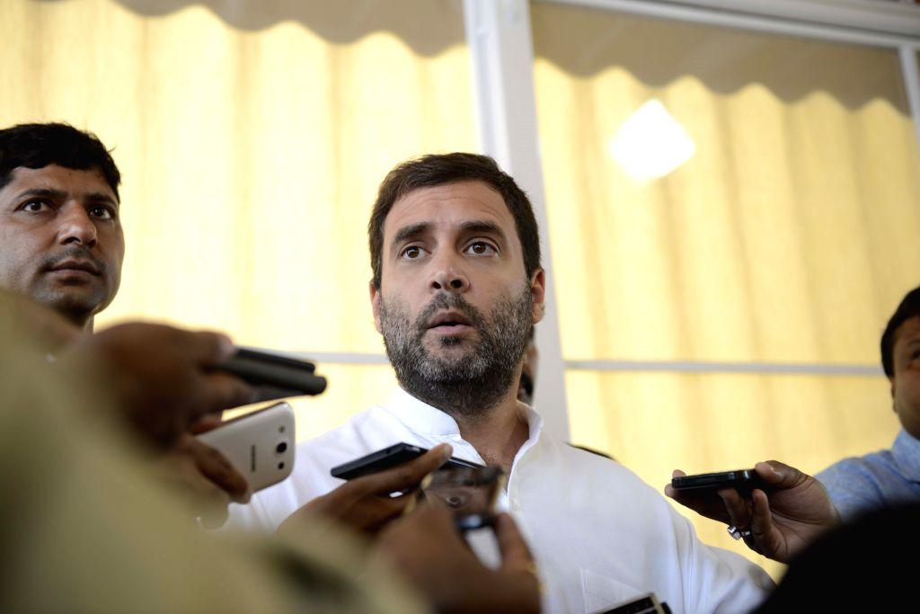 Congress vice president Rahul Gandhi at the Parliament in New Delhi, on Aug 10, 2015. - Rahul Gandhi