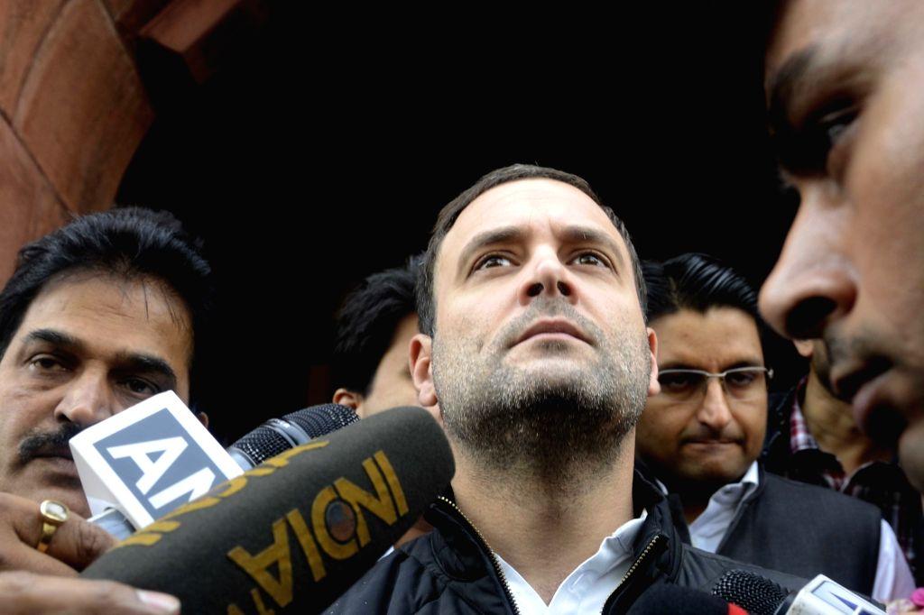 Congress vice president Rahul Gandhi at the Parliament on Nov 21, 2016. - Rahul Gandhi
