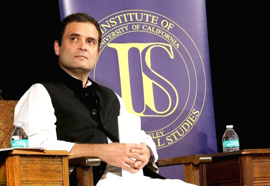 Congress vice president Rahul Gandhi at the event 'India at 70: Reflections on the Path Forward' at the University of California, Berkeley on Sept 12, 2017. - Rahul Gandhi