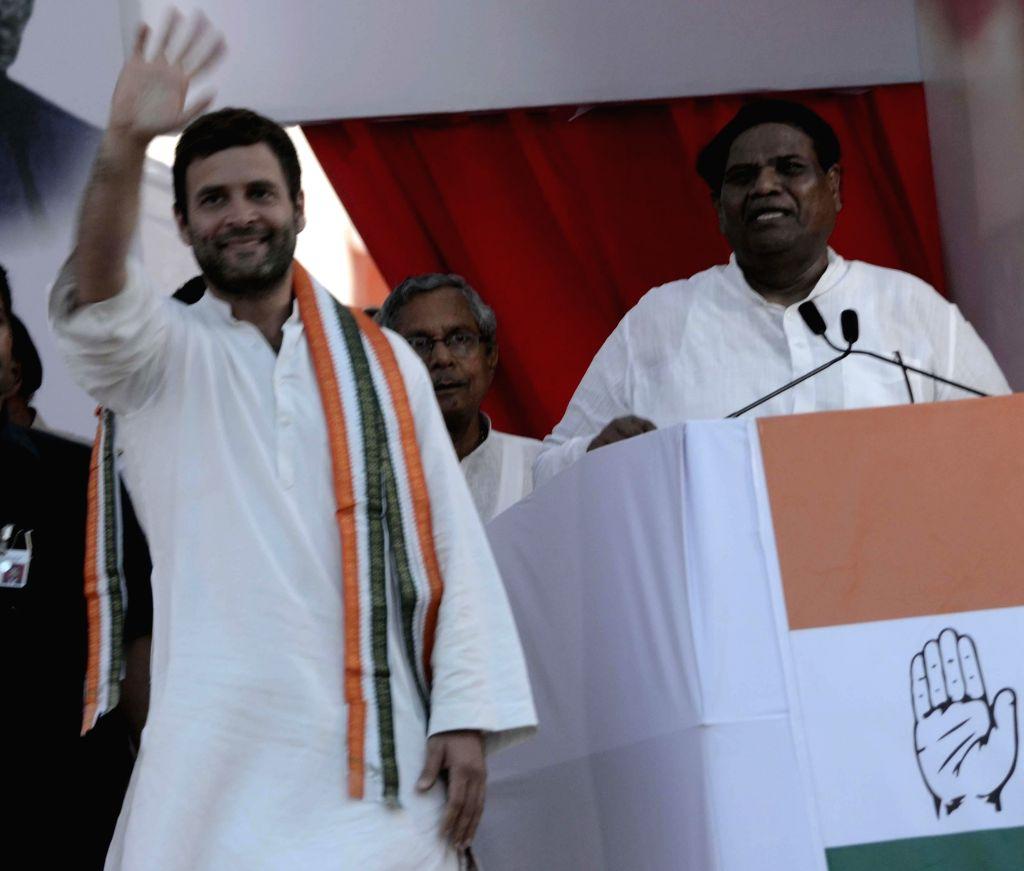 Congress vice president Rahul Gandhi during a rally in Mumbai on April 20, 2014.
