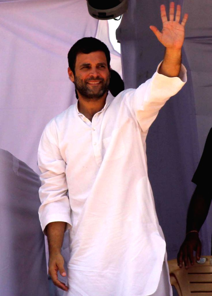 Congress vice president Rahul Gandhi during a rally in Madurai of Tamil Nadu on April 21, 2014.