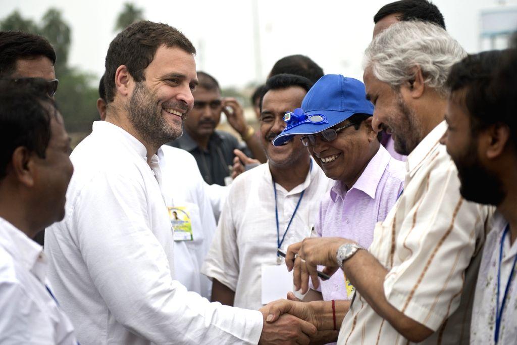 Congress vice president Rahul Gandhi during a public meeting in Kandi of West Bengal's Murshidabad on April 18, 2016. - Rahul Gandhi