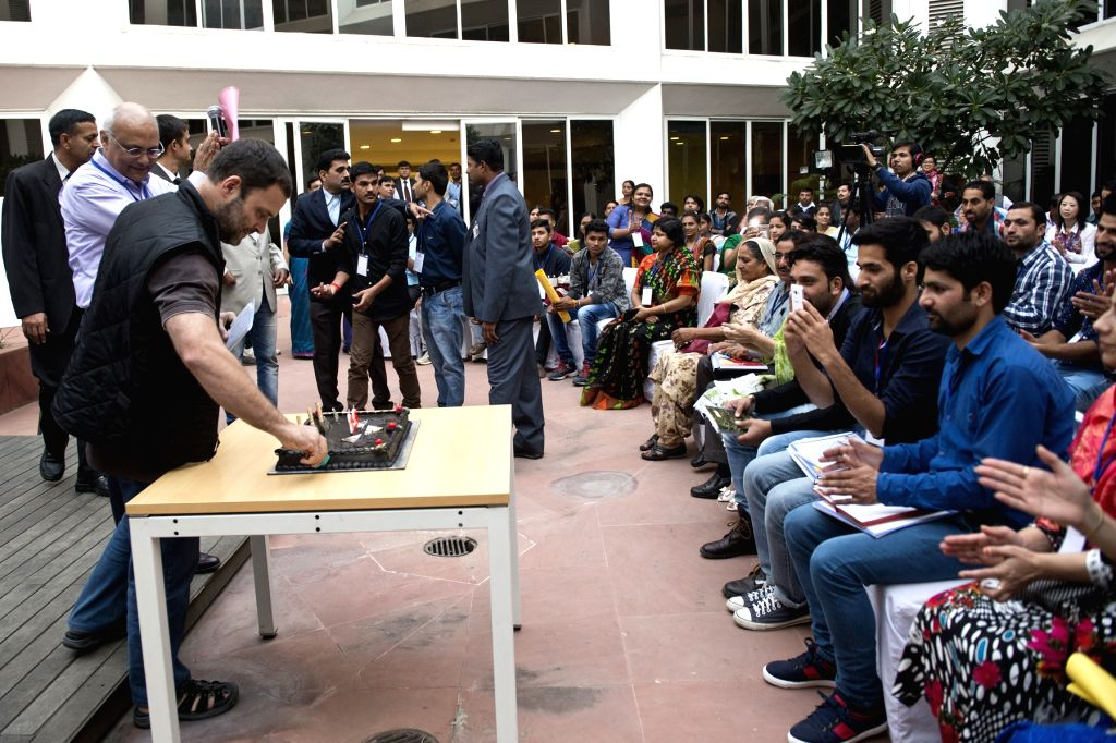 Congress Vice President Rahul Gandhi during Jashn-e-Umeed - Interaction with Alumni Scholars at RGF, Jawahar Bhawan, New Delhi on Nov 26, 2015. - Rahul Gandhi