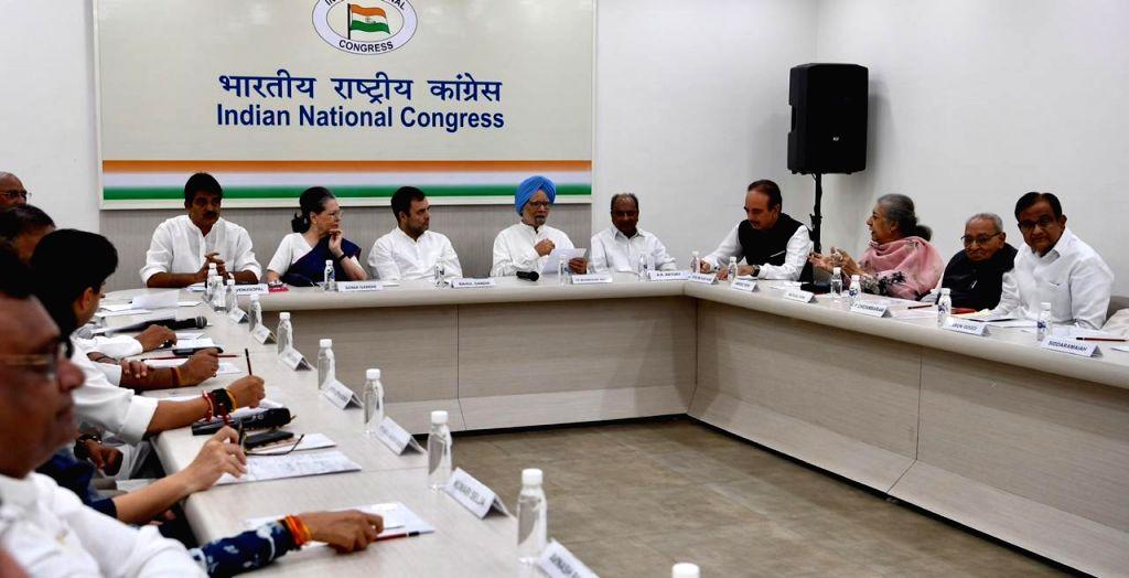 Congress Working Committee meeting underway in New Delhi on Aug 10, 2019.
