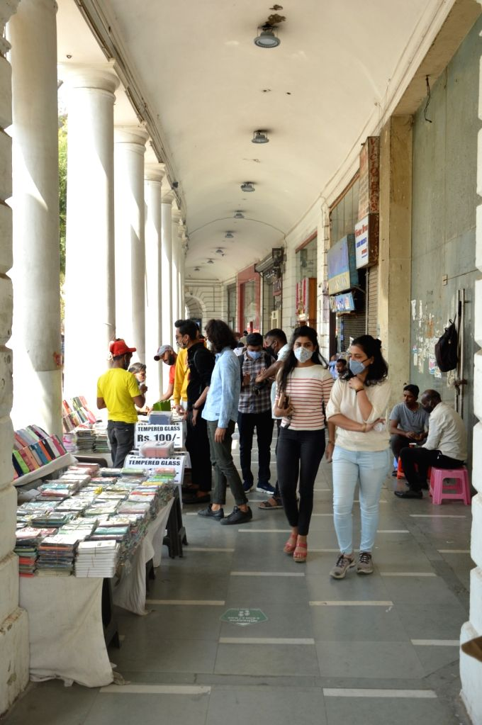 Connaught Place Market  has been open in New Delhi on Friday 26th February,2021.