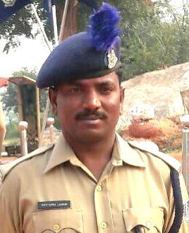Constable Puttappa Lamani, 35. who along with Assistant Sub-Inspector Dakshina Murthy, 52, was trampled to death by a an elephant that strayed into the CRPF camp at Taralu village from the ...