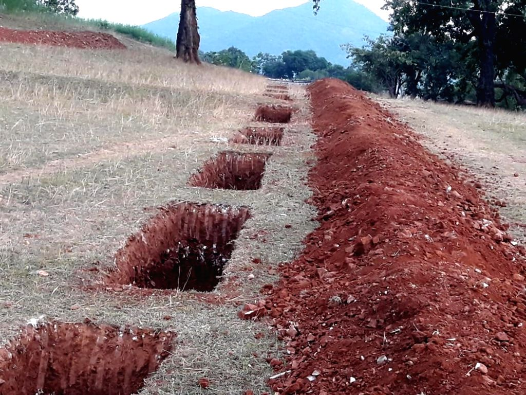 Construction of rain water harvesting system undertaken by the villagers of Aara to conserve water, underway in Ormanjhi near Ranchi. Prime Minister Narendra Modi lauded the efforts of ... - Narendra Modi