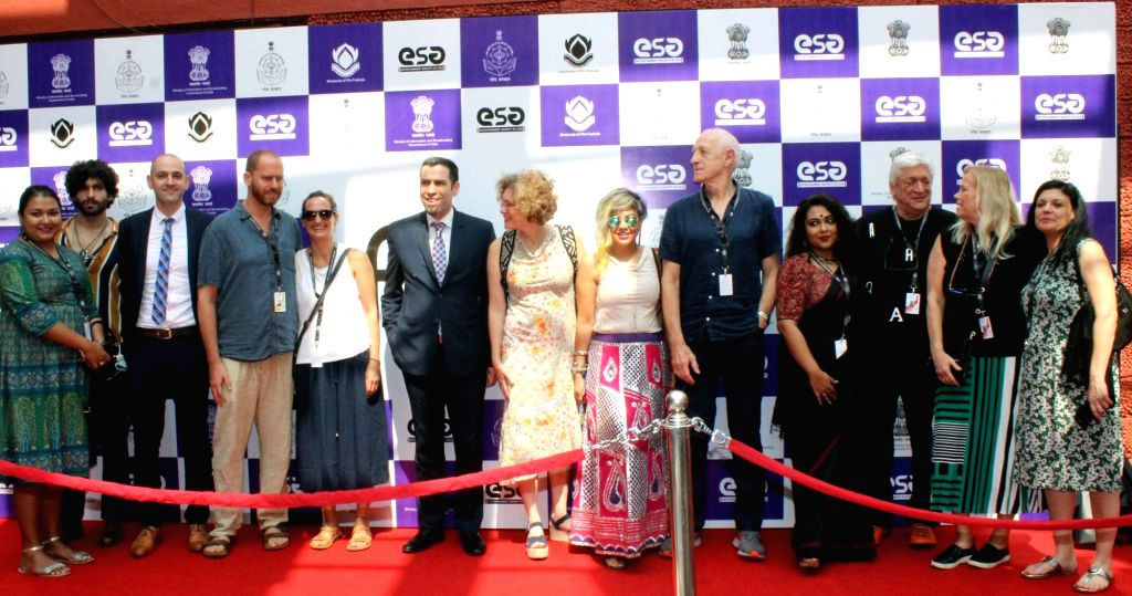 Consul General of Israel in Mumbai, Ya'akov Finkelstein and other dignitaries at the red carpet of 'Country of Focus' Israel during the 49th International Film Festival of India (IFFI-2018) ...