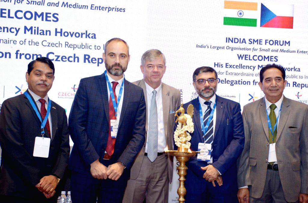 Consul of the Czech Republic CS Prakash, CzechInvest CEO Patrik Reichi, Ambassador of the Czech Republic to India Milan Hovorka, India SME Forum President Vinod Kumar and business coach ... - Vinod Kumar