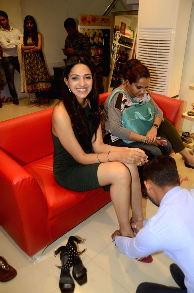 Contestant of FBB Colors Femina Miss India 2017 visit Bata Store to share their style tips and trends with young customers in Mumbai, on May 29, 2017.