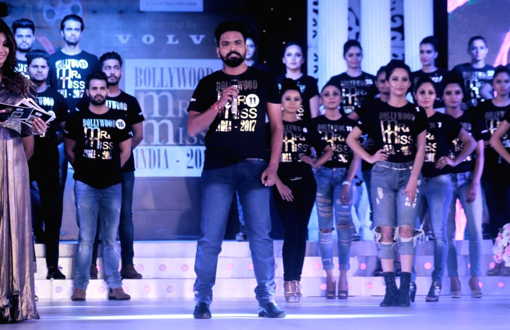 Contestants during Bollywood Mr. And Miss India 2017 in New Delhi on June 24, 2017.