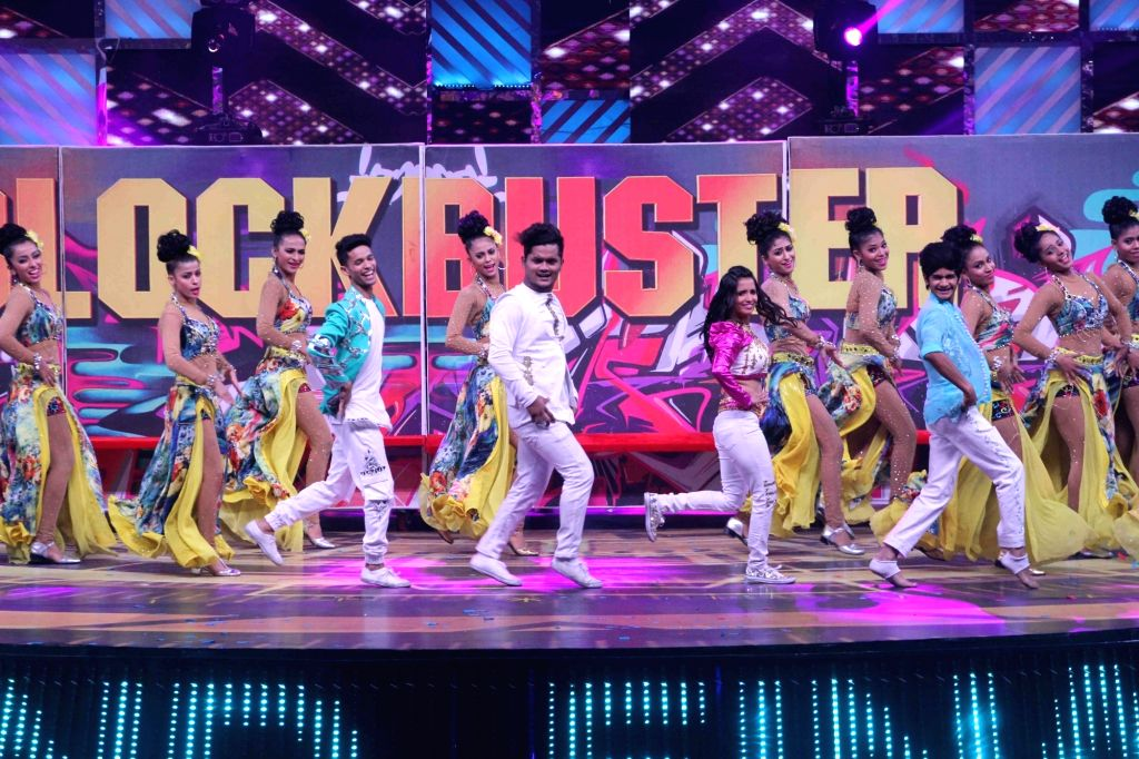 Contestants of dance reality show Dance India Dance L'il Masters perform during the show's Grand Finale in Mumbai on Feb 17, 2018.