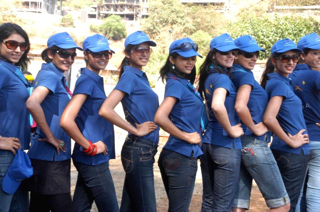 Contestants of Femina Miss Inidia at Lavasa.